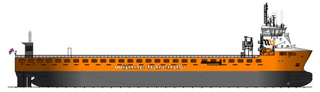Drawing of MPV for Wijnne Barends
