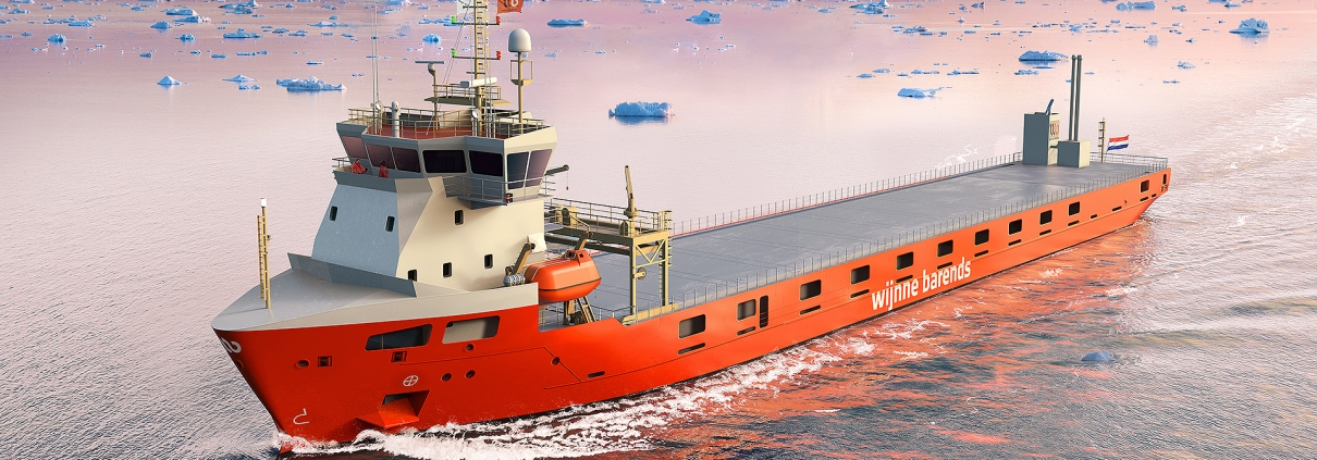 Render of LOLO vessel for UPM