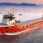 Render of LOLO vessel for UPM